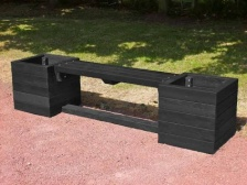 Ribble Planter Bench - recycled plastic